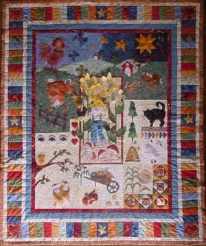 A day in the country quilt by Ruth Blanchet