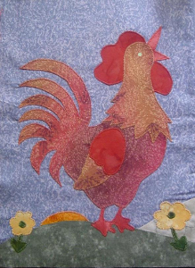 rooster block - a block in A Day In the Country quilt