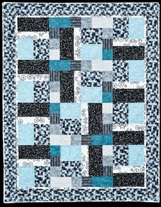 rectangles and squares in blue by Jennifer Houlden