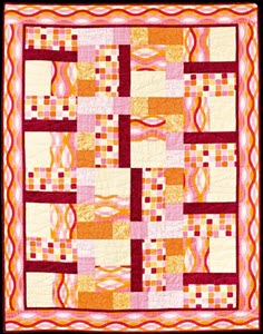 rectangles and squares in orange by Jennifer Houlden