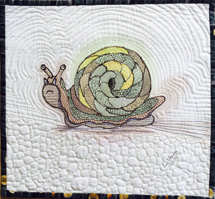 Stitched Snail by Lee Vause