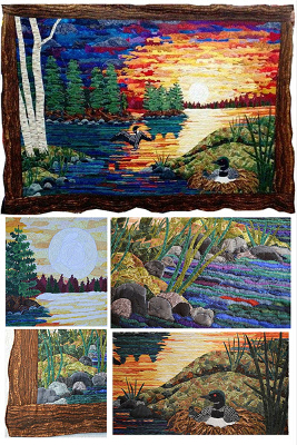 "Marilyn Lee with ""Bits and Pieces Scrap Fabric Landscape"" online workshop"