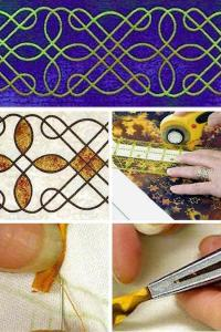 "Nancy Chong's online workshop ""celtic table runner"""