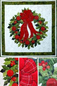 "Ruth Blanchet's online workshop ""Christmas Holly Wreath"""