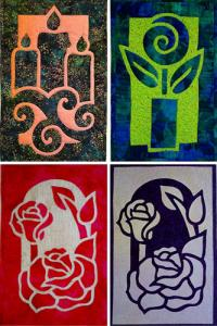 "Nancy Chong's online workshop ""two fabric applique quilts"""