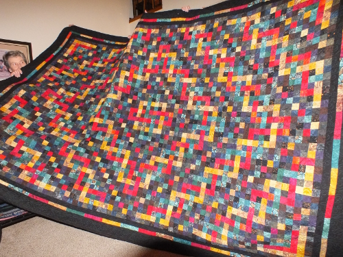 "Connie Martin made this huge ""Trinity Celtic Knot"" quilt in my online class"