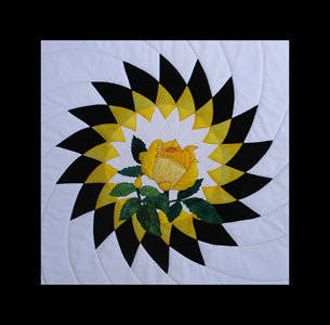 yellow rose of hope made by Ruth Blanchet