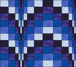 bargello blues matching