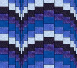 bargello blues staggered seams