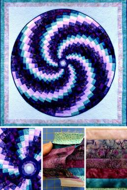 circular bargello - online workshop or quilt pattern