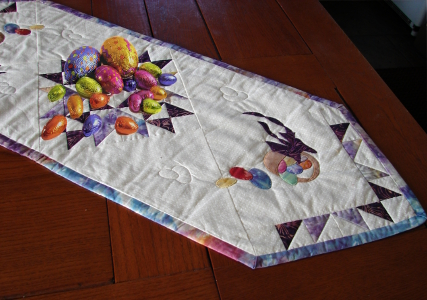 easter treats table runner
