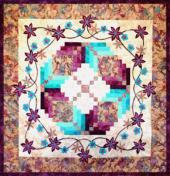 purple dawn quilt pattern made using Hoffman Fabrics