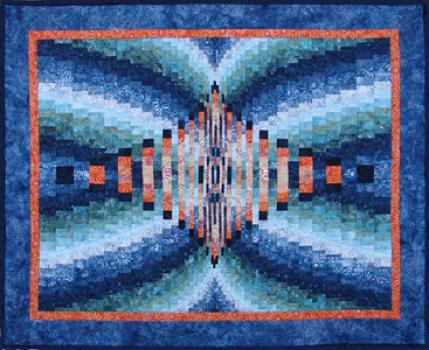 Reflections bargello quilt made with hoffman by Ruth Blanchet