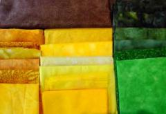 applique fabrics for sunflowers and leaves