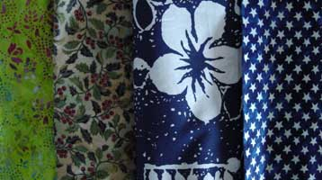 non suitable fabrics for background