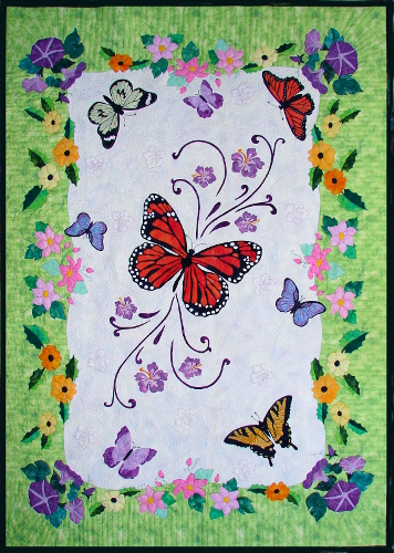 BOM butterfly quilt Spring Life by Ruth Blanchet