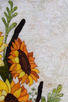 sunflower bouquet quilting