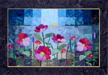 Wild Flowers quilt made by Ruth Blanchet