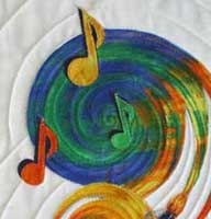 musical quilt closeup